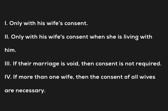 A married Male under the Hindu Adoption and Maintenance Act can adopt